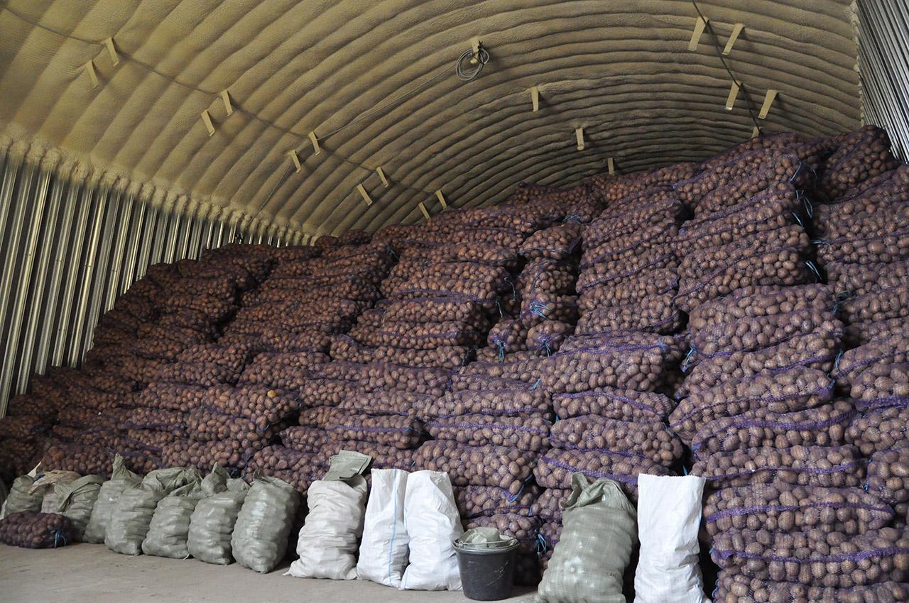 Строительство картофелехранилища по бескаркасной технологии