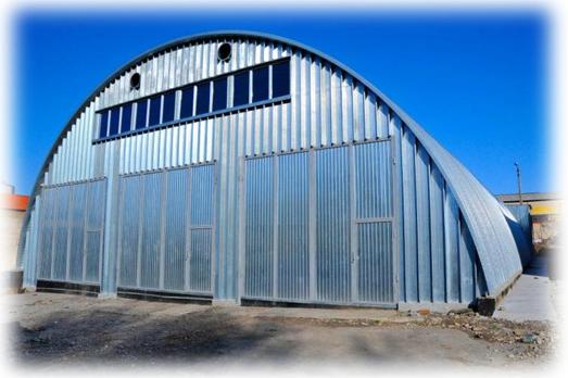 Строим бескаркасный ангар под станцию обслуживания сельскохозяйственной техники