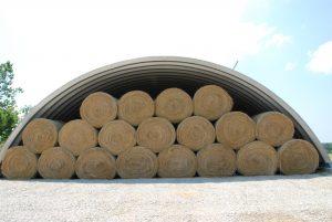 Строительство сено- и соломохранилищ