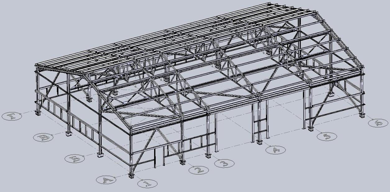 Конструкция промышленного здания картинки